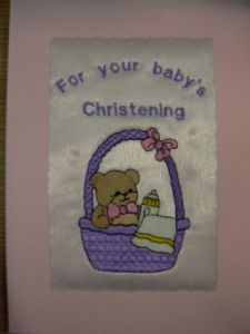 PERSONALISED EMBROIDERED TEDDY IN THE BASKET CARD